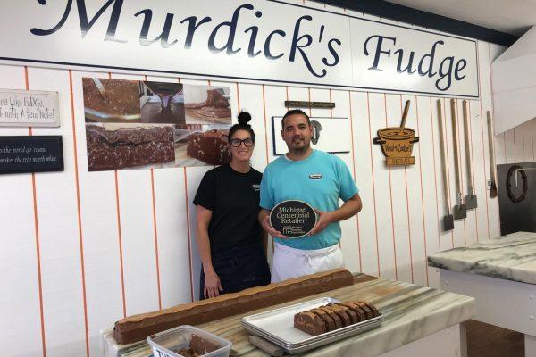 Kristine and Aaron Murdick own and operate Murdicks Famous Fudge in Mackinaw City.